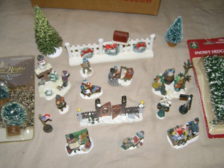 cobblestone corners windham heights christmas village figure accessory lot b
