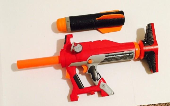 NERF N-strike AS-V1 Rocket launcher foam dart gun toy