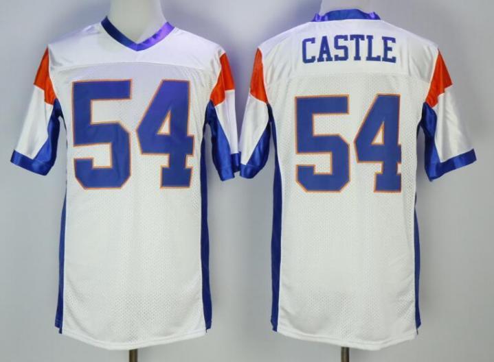 a74001eb4 Stitched Blue Mountain State Jersey 54 Thad Castle Blue White 7 Alex Moran  7 white M