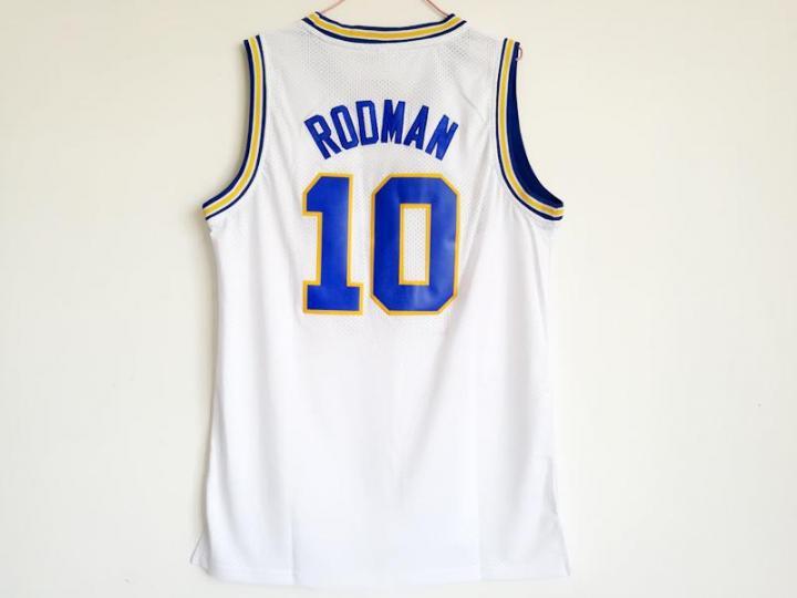 OKLAHOMA SAVAGES College Jersey 10 Dennis Rodman Basketball Jerseys Green XL d41eab4ba