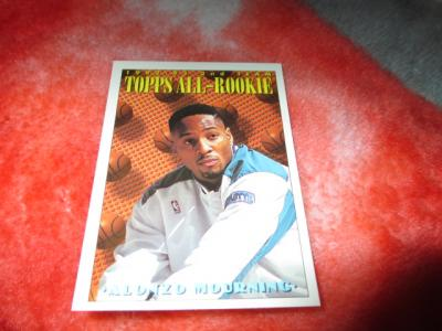 Ebluejay 1993 94 Topps Basketball Alonzo Mourning Topps All