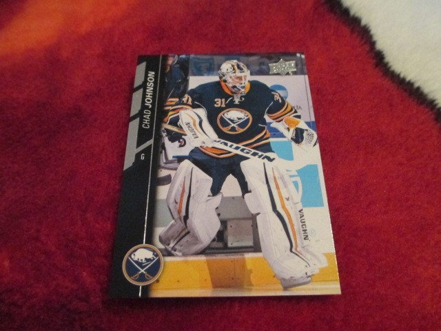 2015 16 Upperdeck Series 2 Hockey Chad Johnson Card 273 Buffalo Sabres