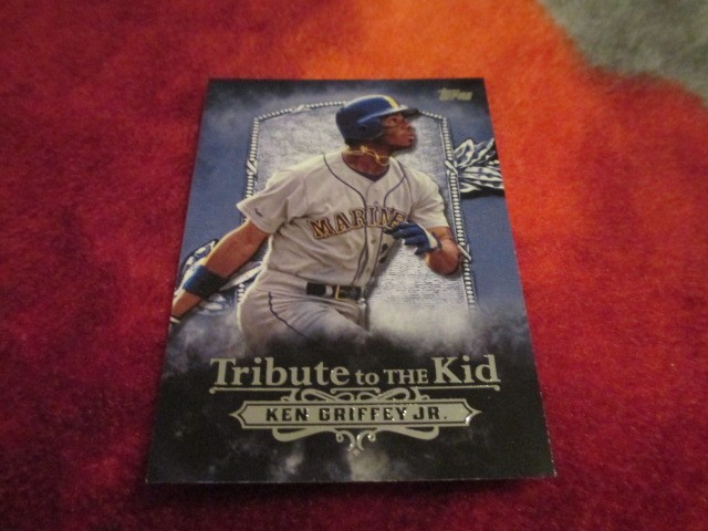 3850fc3a70 2016 Topps Baseball Series 2 Ken Griffey JR. Tribute to the Kid Card# KID-14,  Seattle Mariners