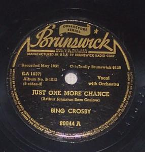 bing crosby 78 record just one more chance