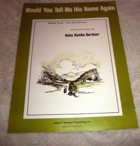 eBlueJay: Would You Tell Me His Name Again Sheet Music