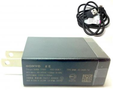 On Hold Original Sony EP880 USB Quick Charger US Plug + EC801 Charge Data Cable Xperia