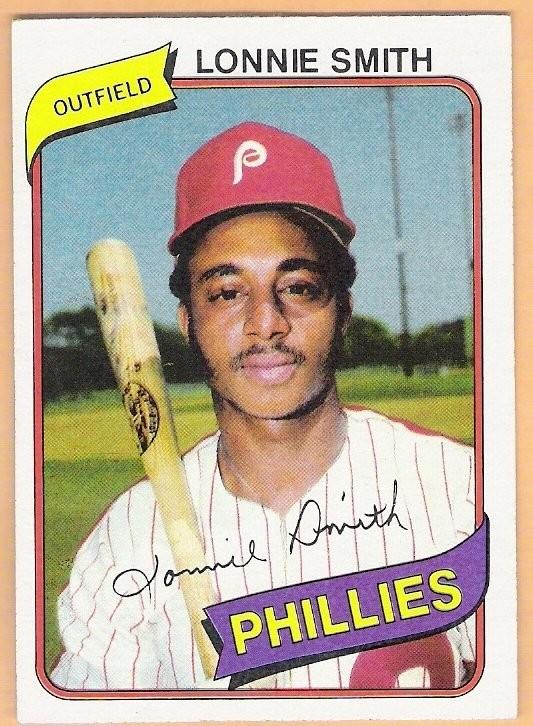 Ebluejay Lonnie Smith 1980 Topps Burger King Baseball Card 14
