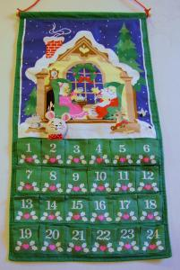 eBlueJay: VINTAGE AVON CHRISTMAS COUNTDOWN CALENDAR with MOUSE, 1987