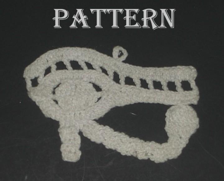 Ebluejay Filet Crochet Crocheted Egypt Egyptian Eye Of Horus