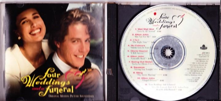 Four Weddings And A Funeral Soundtrack CD Elton John Wet Nu Colours Gloria Gaynor
