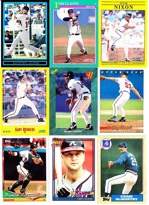 Ebluejay Atlanta Braves Chipper Jones Tom Glavine Otis Nixon