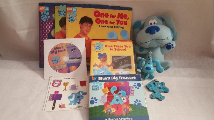 Ebluejay Blue S Clues Gift Set Blue Doll Keychain Stickers Floppy Books Music Cd Dvd S Toy