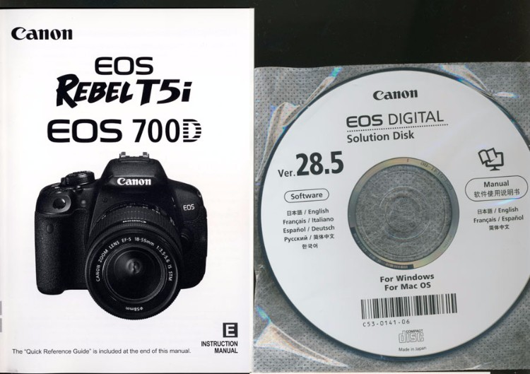 Ebluejay Canon Eos Rebel T5i 700d Camera Instruction Manual