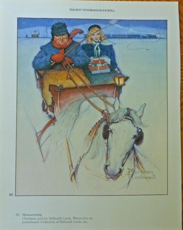 eBlueJay: Homecoming (Christmas card for Hallmark. Norman Rockwell ...