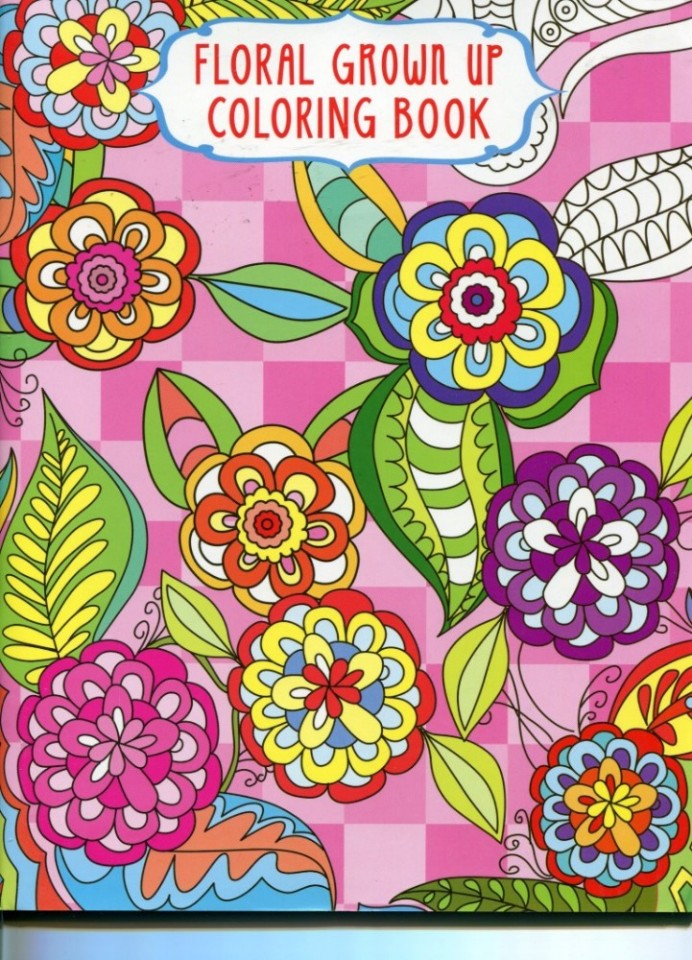 Grown Up Coloring Book Floral Design 4