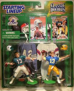 Miami Dolphins Dan Marino 1998 Starting Lineup Classic Doubles Card