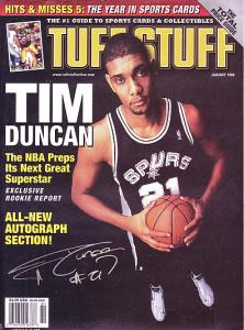 Ebluejay Tuff Stuff January 1998 Cover Tim Duncan Of