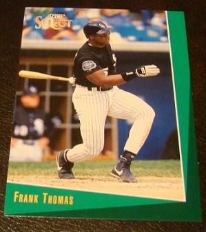 Ebluejay Frank Thomas 1993 Score Select Baseball Card Chicago White Sox