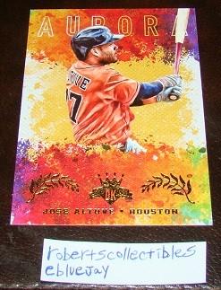 Ebluejay Jose Altuve 2017 Diamond Kings Aurora Insert Baseball Card
