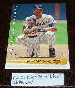 Ebluejay Fred Mcgriff 1992 Upper Deck Home Run Heroes Insert