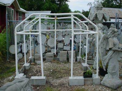 7ft x 10ft. portable Green House concrete stones 1 1/2in PVC pipe frame & eBlueJay: 7ft x 10ft. portable Green House concrete stones 1 1/2in ...