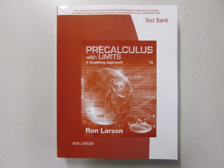 Precalc With Limits Textbook