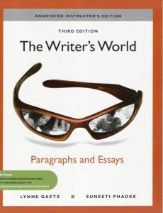 the writer's world paragraphs and essays 3rd edition answers