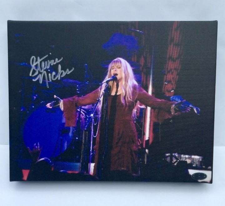 Buy stevie nicks autographed rp 11x14 canvas print wall art at AtomicMall.com