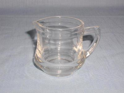 On Hold VINTAGE CLEAR GLASS MINI CREAM PITCHER KELLOGGS CORRECT CEREAL  CREAMER