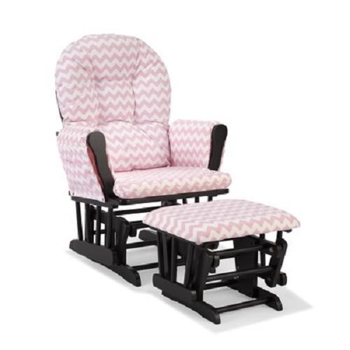 EBlueJay Baby Nursery Rocker Glider Pink Chair Stool Seat