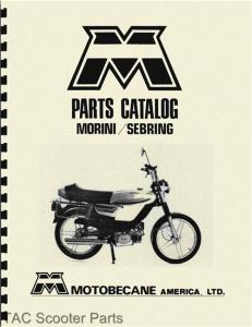 eBlueJay: Motobecane Morini & Sebring Moped Parts Manual
