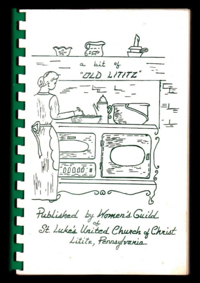 eBlueJay: Rare Old LITITZ PA 1965 St Luke's Church Cookbook