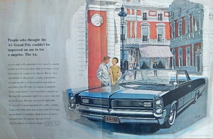 eBlueJay: 1964 Pontiac Grand Prix, 60's Vintage print ad  Color