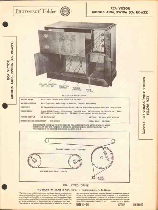 eBlueJay: Rca Victor Models A106 9w106 Am Fm Radio Phono