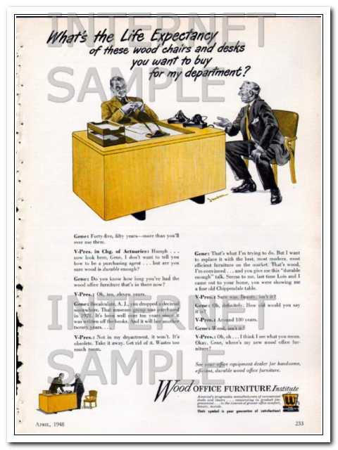 Ebluejay Wood Office Furniture Institute 1948 Expectancy Chairs
