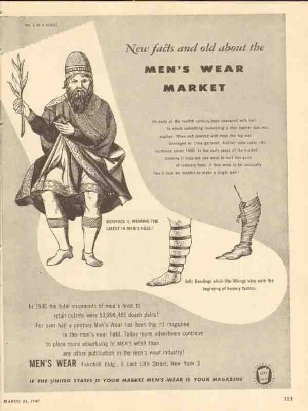Ebluejay Mens Wear 1947 Facts Boniface Wearing Hose Magazine Media