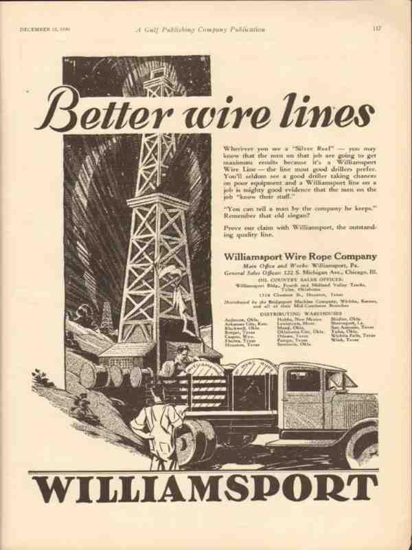 eBlueJay: Williamsport Wire Rope Company 1930 Better Line Silver ...