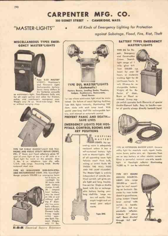 Ebluejay Carpenter Mfg Company 1944