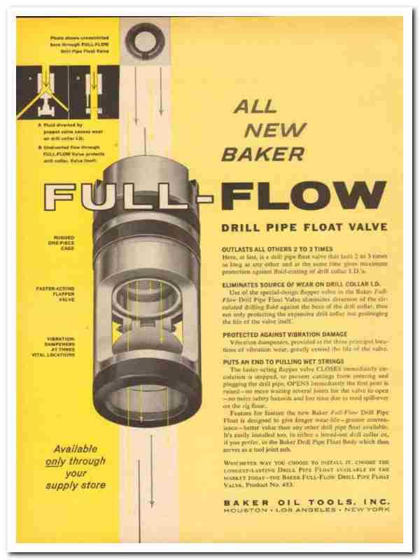 eBlueJay: Baker Oil Tools Inc 1959 Full-Flow Drill Pipe Float Valve