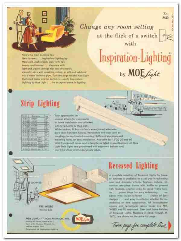 Ebluejay Thomas Industries Inc 1954 Moe Light Electrical