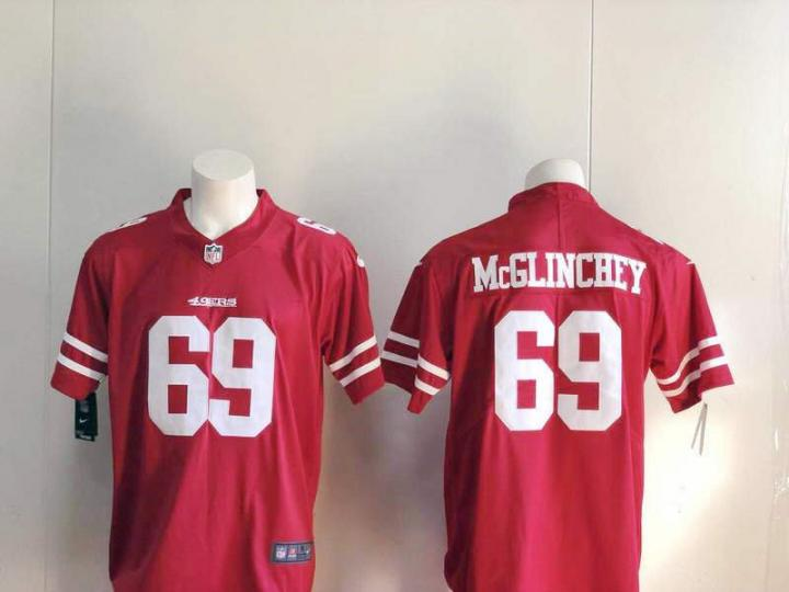 lowest price c58ad 9437a eBlueJay: Mike McGlinchey #69 Men's San Francisco 49ers ...