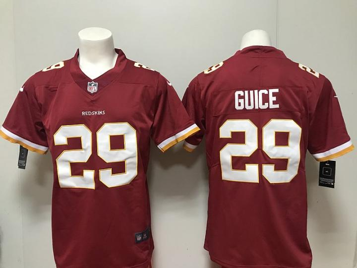 buy popular ff94f 9564c eBlueJay: Men's Redskins #29 Derrius Guice Limited Player Jersey