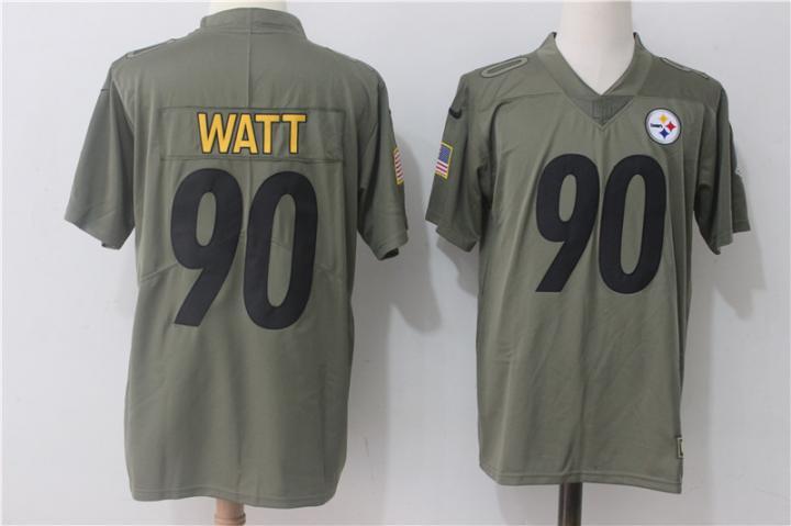 WATT  90 Men s Pittsburgh Steelers Salute To Service Limited Jersey eb1155993