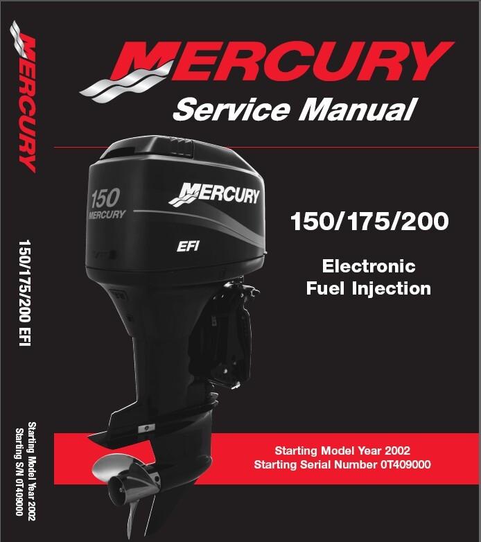 ebluejay mercury 150 175 200 efi outboard motors service manual cd rh ebluejay com Mercury 200 EFI Parts 1999 mercury 200hp efi manual