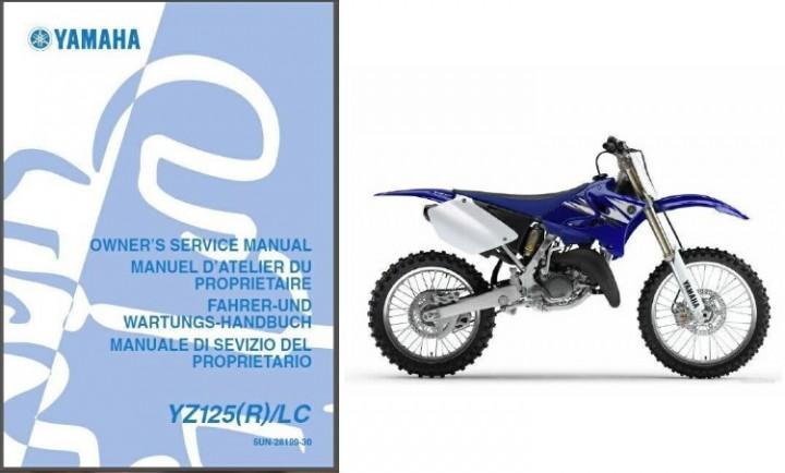yamaha yz125 service manual repair 2006 yz 125