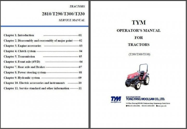 eBlueJay: TYM T290 T300 T330 2810 Tractor Repair Service