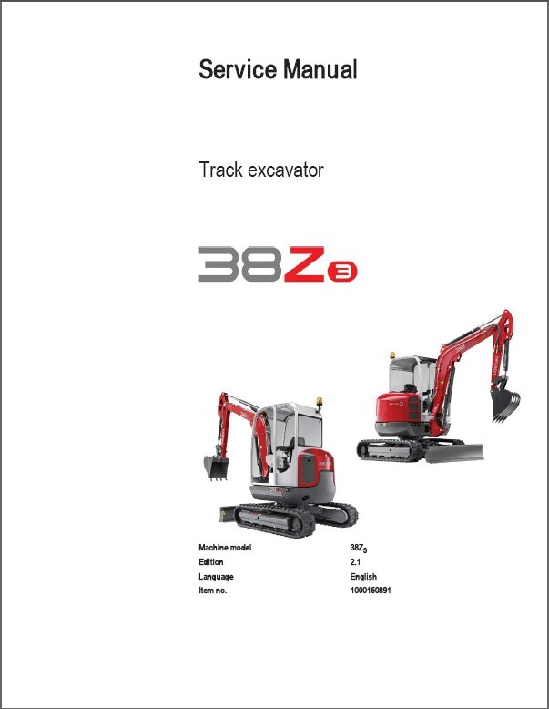 Ebluejay  Wacker Neuson 38z3 Track Excavator Service