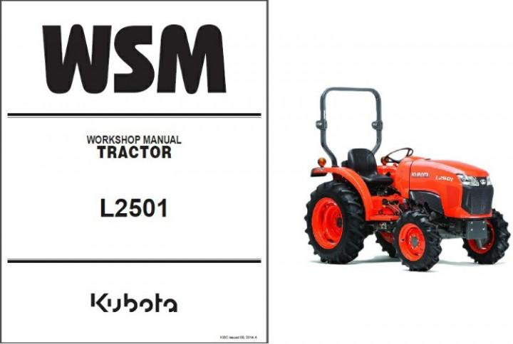 eBlueJay: Kubota L2501 Tractor WSM Service Workshop Manual